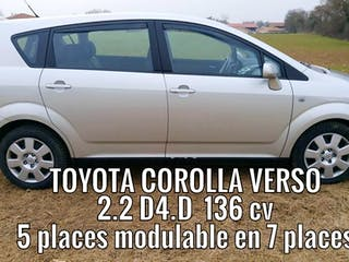 location toyota corolla verso 2009 diesel 7 places colombier saugnieu a roport de lyon saint. Black Bedroom Furniture Sets. Home Design Ideas