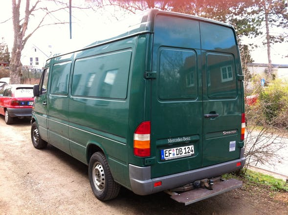 transporter mercedes sprinter 2001 diesel in berlin hammerstra e 11 mieten. Black Bedroom Furniture Sets. Home Design Ideas