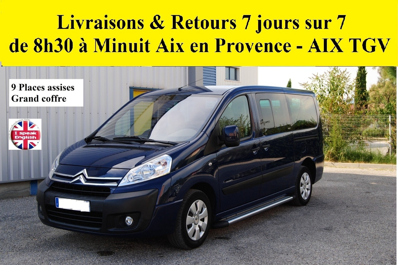 CITROEN JUMPY Minibus 9 places L2H1 120CV diesel Aix TGV ou Aéroport , 2007, Diesel, 9 places et plus