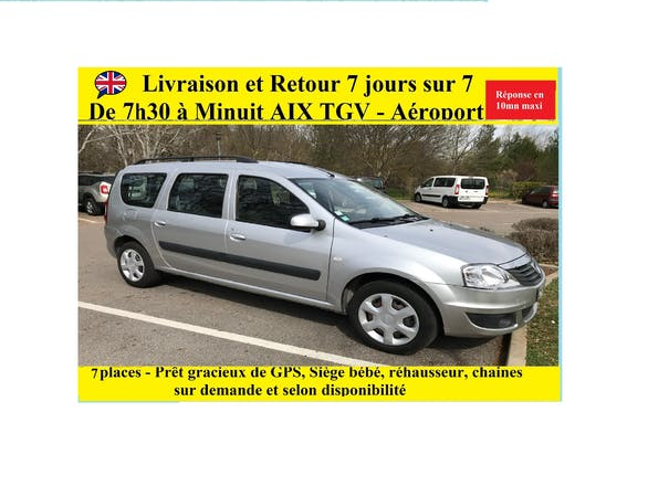 location dacia logan mcv 2012 diesel 7 places cabri s aix en provence tgv. Black Bedroom Furniture Sets. Home Design Ideas