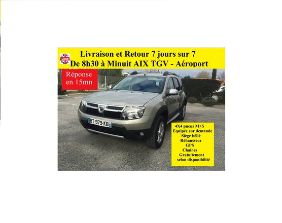 location dacia duster 2011 diesel aix en provence gare d 39 aix en provence tgv. Black Bedroom Furniture Sets. Home Design Ideas
