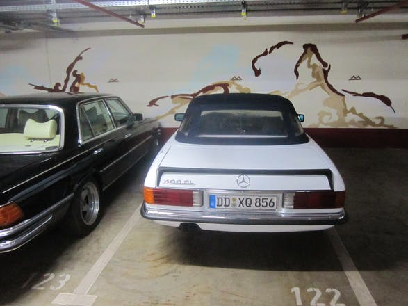 mercedes classe sl cabriolet 1986 automatik in dresden scariastra e mieten. Black Bedroom Furniture Sets. Home Design Ideas