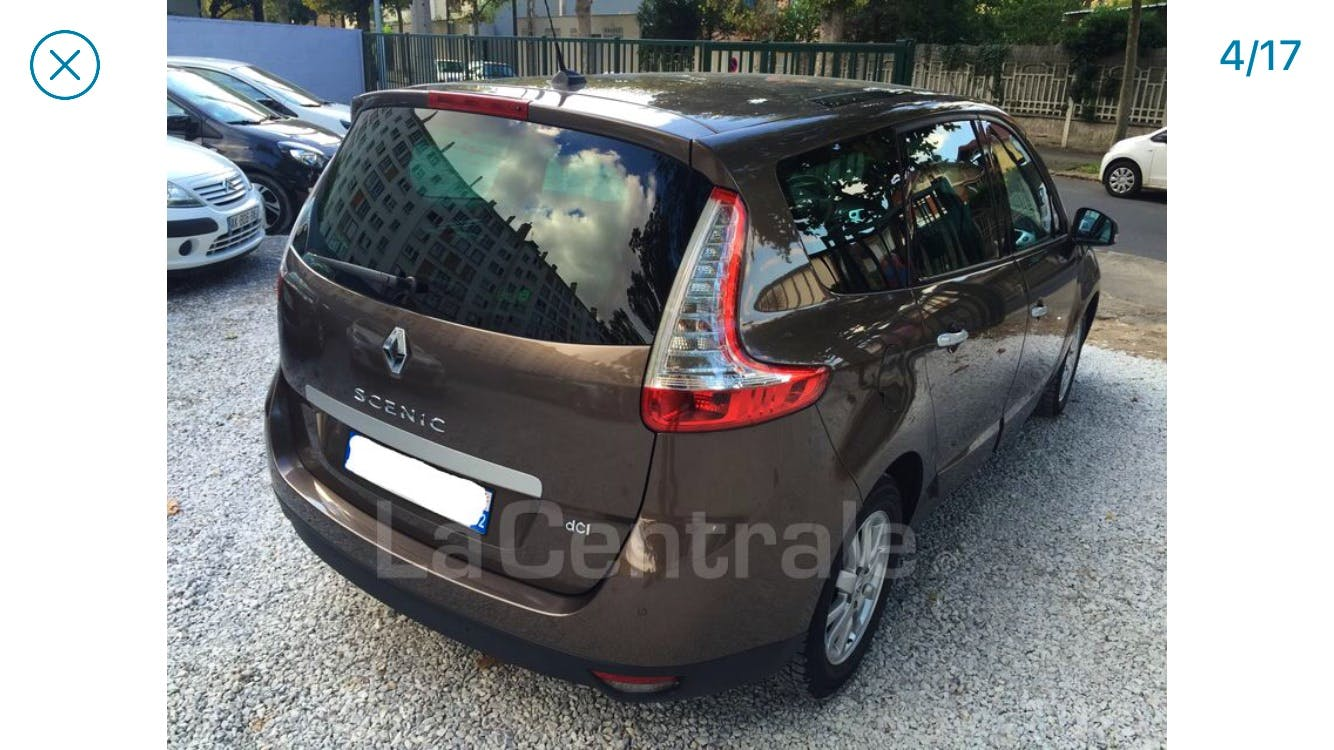 Renault Grand Scénic initiale 1,5 DCI EDC 110 avec GPS