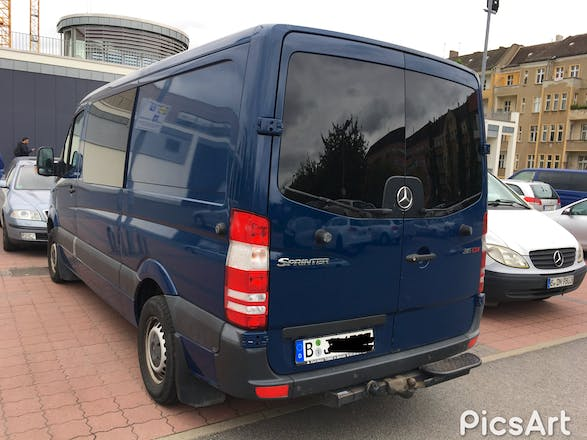 transporter mercedes sprinter 2008 diesel 6 sitze in. Black Bedroom Furniture Sets. Home Design Ideas