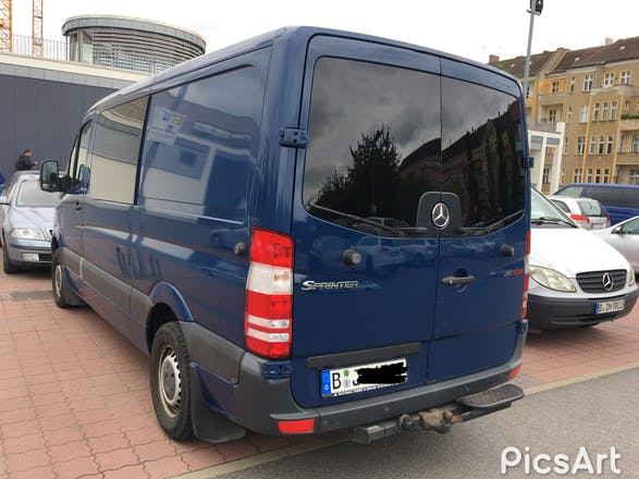 transporter mercedes sprinter 2008 diesel 6 sitze in berlin oderstra e 16 mieten. Black Bedroom Furniture Sets. Home Design Ideas