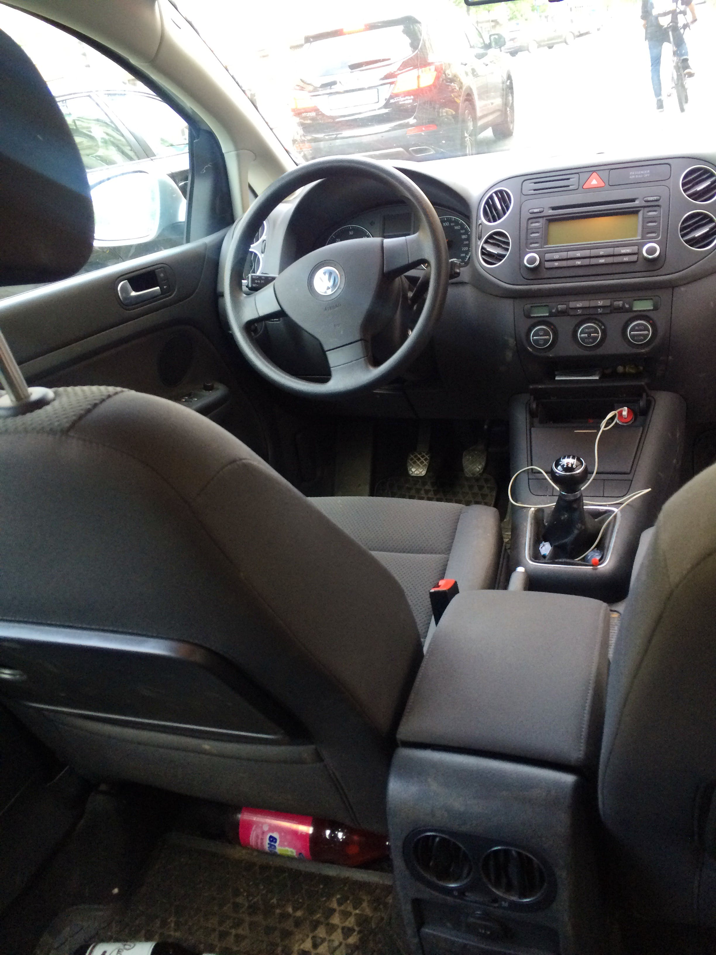 Volkswagen Golf Plus mit Kindersitz